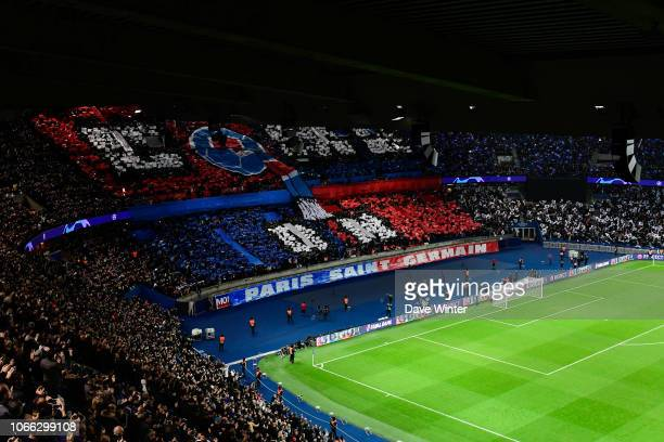 Fans during the UEFA Champions League Group C match between Paris Saint Germain and Liverpool on November 28, 2018 in Paris, France.