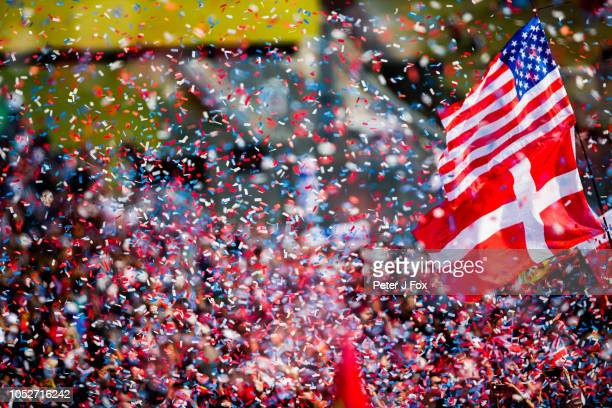 Fans during the United States Formula One Grand Prix at Circuit of The Americas on October 21 2018 in Austin United States