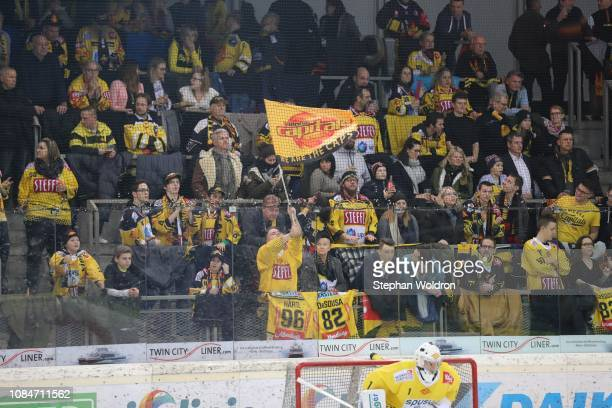fans during the Vienna Capitals v EC VSV Erste Bank Eishockey Liga at Erste Bank Arena on January 18 2019 in Vienna Austria
