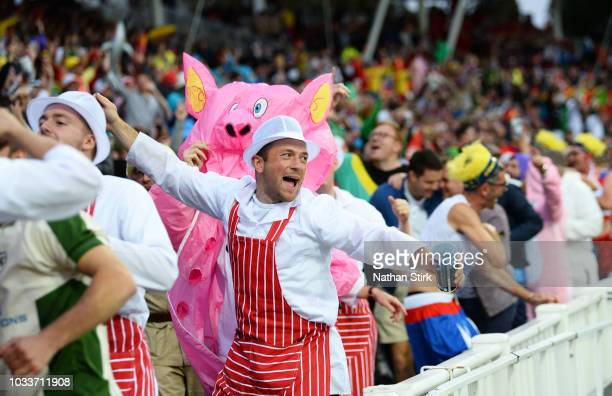 Fans during the Vitality Blast Final match between Worcestershire Rapids and Sussex Sharks at Edgbaston on September 15 2018 in Birmingham England