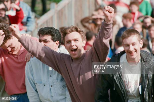 Fans during the Wolverhampton Wanderers v Middlesbrough match. Final score 2-1 to Middlesbrough. League Division Two. Molineux Stadium,...