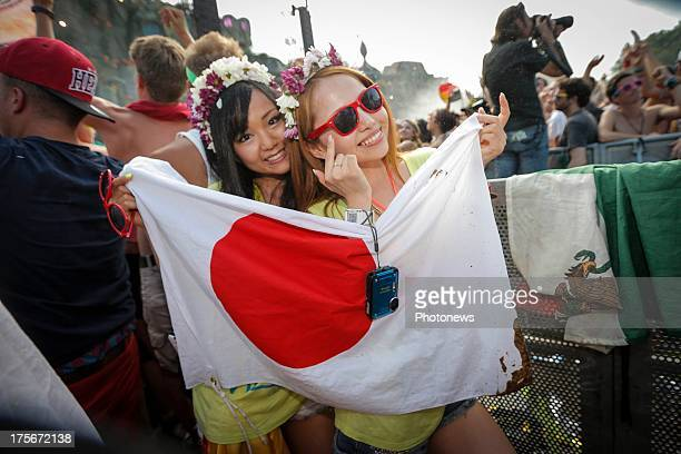 Fans during Tomorrowland 2013 on July 26 2013 in Boom Belgium
