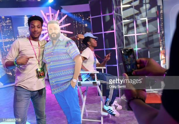 """Fans enjoy activation as """"MTV Presents: Khaled Con,"""" a DJ Khaled-hosted fan event in MTV's Times Square Studio, celebrating the release of """"Father Of..."""
