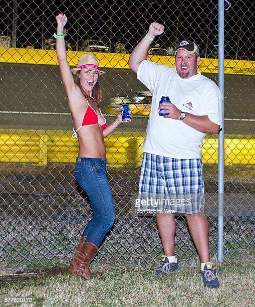 Fans enjoy activities throughout the day before the Bank of America 500 race at the Charlotte Motor Speedway in Concord NC