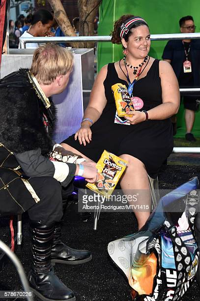 Fans enjoy Doritos at the MTV Fandom Awards San Diego at PETCO Park on July 21 2016 in San Diego California