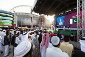 doha qatar fans enjoy entertainment fan