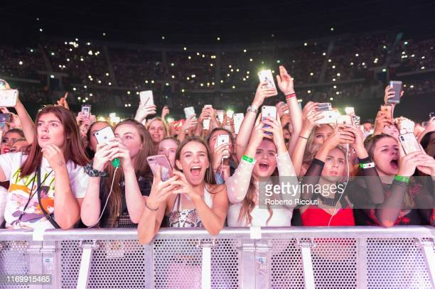 Fans enjoy Khalid performance on stage at The SSE Hydro on September 20 2019 in Glasgow Scotland