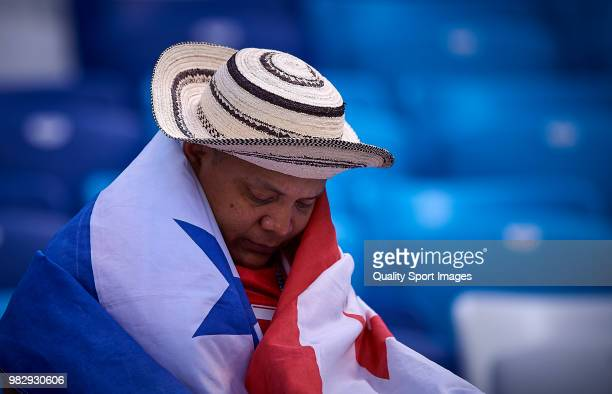 Fans enjoy prematch atmosphere prior to the 2018 FIFA World Cup Russia group G match between England and Panama at Nizhny Novgorod Stadium on June 24...