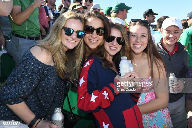 Fans enjoy the action at the 16th hole during the third round of the Waste Management Phoenix Open at TPC Scottsdale on February 4 2017 in Scottsdale...