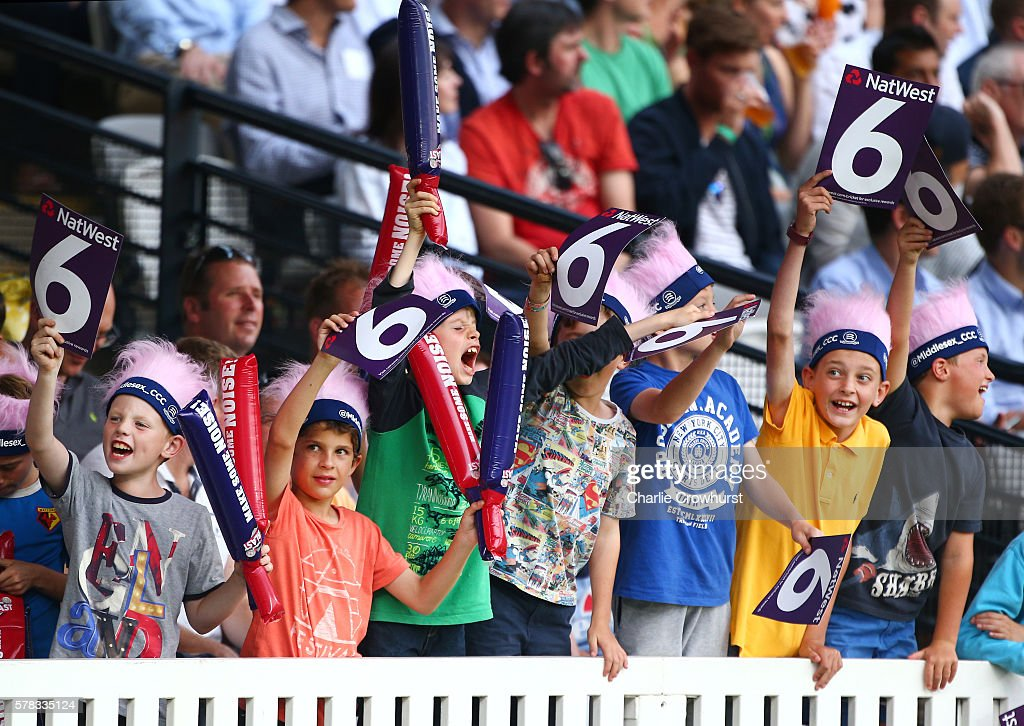 Fans enjoy the action during the NatWest T20 Blast match between