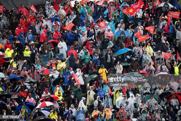Fans enjoy the atmosphere during Bathurst 1000 which is part of the Supercars Championship at Mount Panorama on October 8 2017 in Bathurst Australia