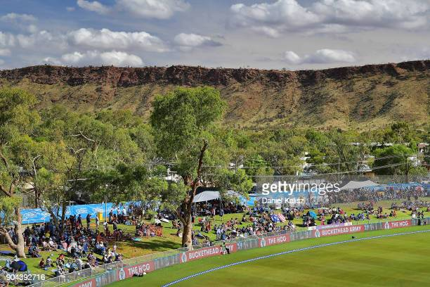 Fans enjoy the atmosphere during the Big Bash League match between the Adelaide Strikers and the Perth Scorchers at Traeger Park on January 13 2018...