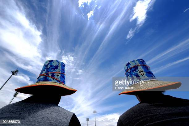 Fans enjoy the atmosphere during the WBBl game prior to the Big Bash League match between the Adelaide Strikers and the Perth Scorchers at Traeger...