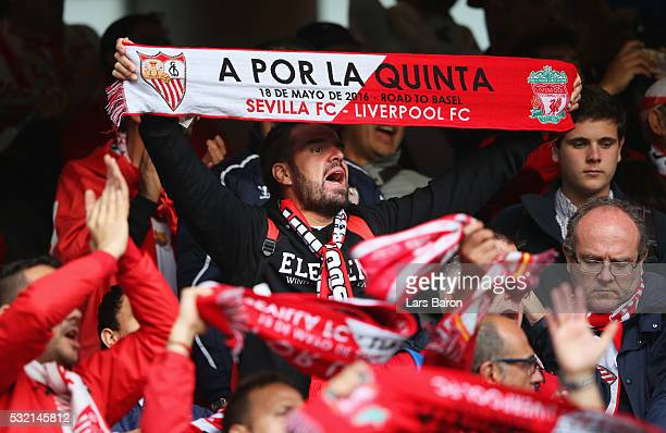 Fans enjoy the atmosphere prior to the UEFA Europa League Final match between Liverpool and Sevilla at St JakobPark on May 18 2016 in Basel...