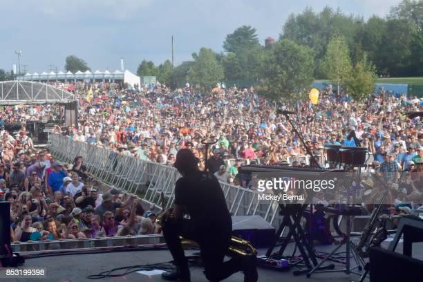 Fans enjoy the Pilgrimage Music Cultural Festival on September 24 2017 in Franklin Tennessee