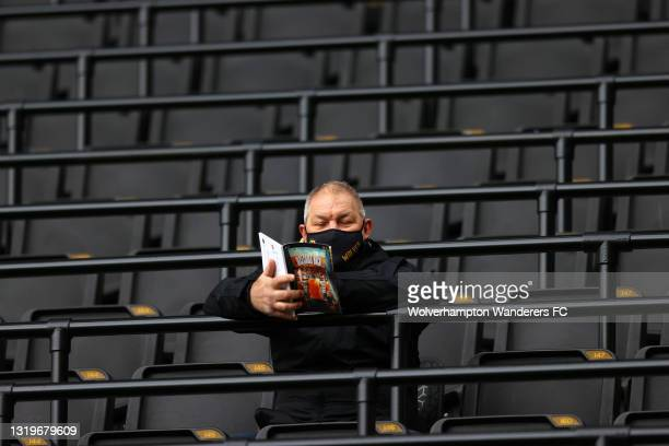 Fans enjoy the pre match atmosphere during the Premier League match between Wolverhampton Wanderers and Manchester United at Molineux on May 23, 2021...