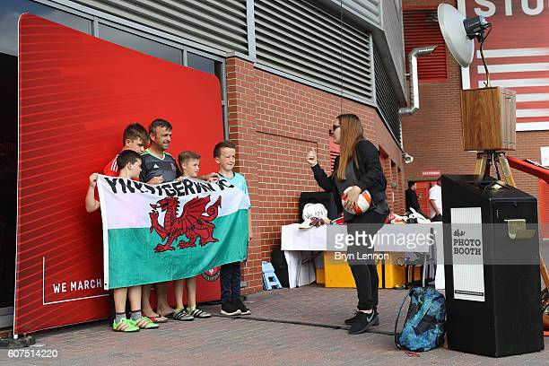 Fans enjoy the pre match entertainment during the Premier League match between Southampton and Swansea City at St Mary's Stadium on September 18 2016...