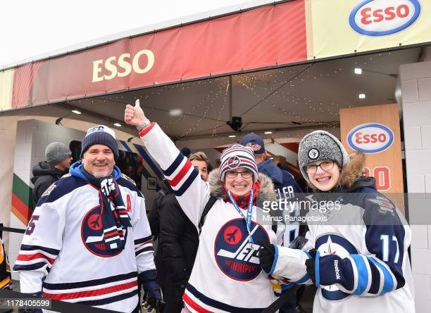 Fans enjoy The PreGame in advance of the 2019 Tim Hortons NHL Heritage Classic as the Calgary Flames take on the Winnipeg Jets at Mosaic Stadium on...