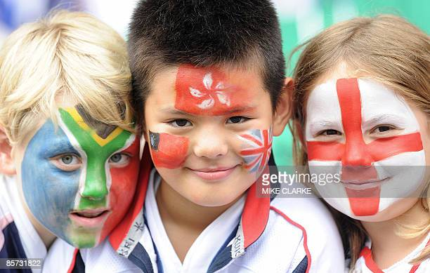 Fans enjoy the second day of the Hong Kong Rugby Sevens the fifth leg of the RIB World Seven Series in Hong Kong on March 28 2009 Hong Kong is the...