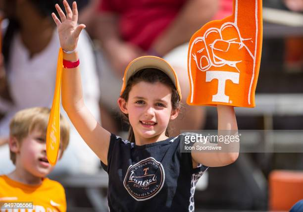 Fans enjoy the Tennessee spring game on April 21 at Neyland Stadium in Knoxville TN