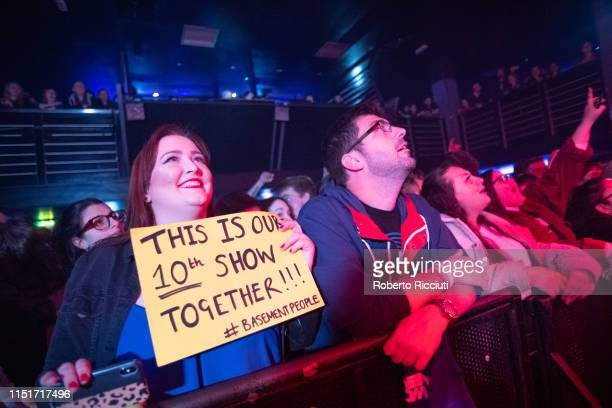 Fans enjoy Two Door Cinema Club performance on stage at The Liquid Room on June 24 2019 in Edinburgh Scotland