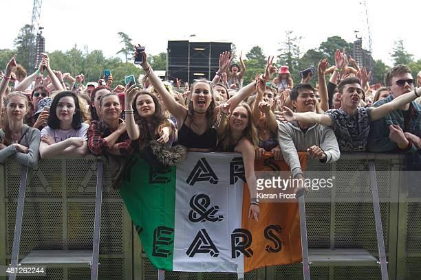 Fans enjoy Years Years performance at Longitude Festival on July 18 2015 in Dublin Ireland