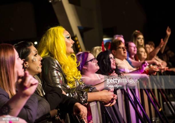 Fans enjoying Sharon Needles' live performance at The O2 Institute Birmingham on April 26 2018 in Birmingham England
