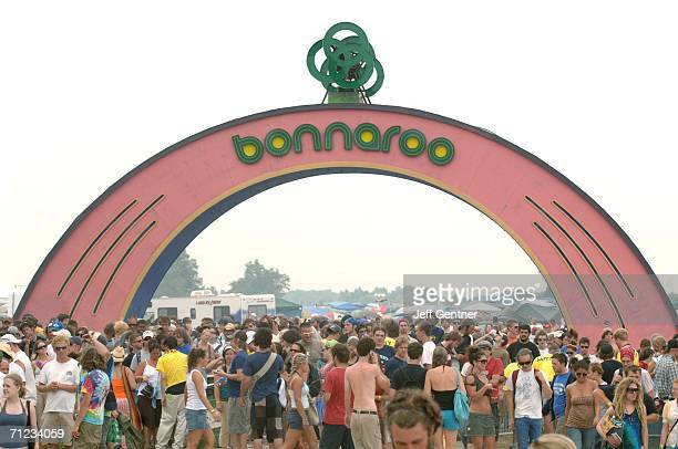 Fans enter during the final day of the 2006 Bonnaroo Music & Arts Festival on June 18, 2006 in Manchester, Tennessee. The three-day music festival...