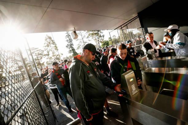 AUS: Geelong v Essendon - 2021 AFL Community Series