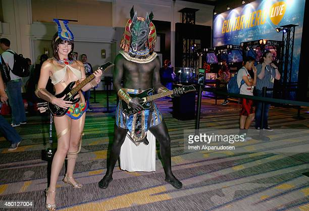 Fans experience Guitar Hero Live during ComicCon International 2015 on July 9 2015 in San Diego California