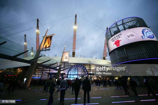 Fans file into O2 Arena prior to a game between the Utah Jazz shoots and the Chicago Bulls during the 2009 NBA Europe Live Tour on October 6 2009 in...