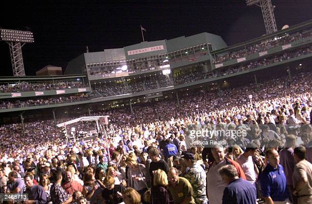 Fans fill historic Fenway Park during the first night of Bruce Springsteen's concert series September 6 2003 in Boston Massachusetts Springsteen is...