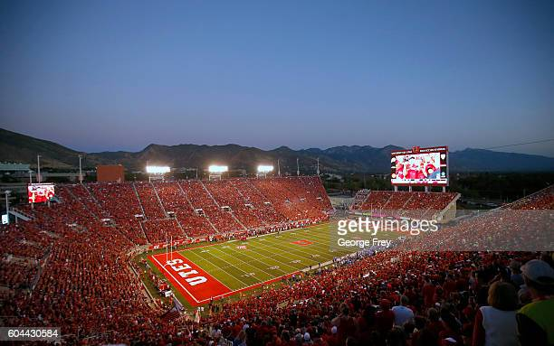 Fans fill Rice Eccles Stadium during the second half of the Utah Utes and Brigham Young Cougars game on September 10 2016 in Salt Lake City Utah Utah...