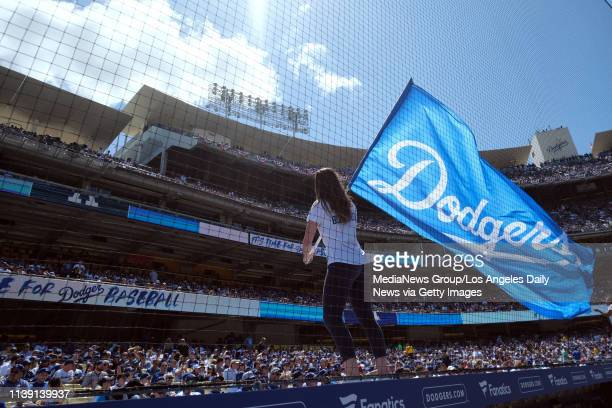 Fans fill the the seats during opening day at Dodger Stadium Thursday March 27 2019 Te Dodgers beat the Diamondbacks 125