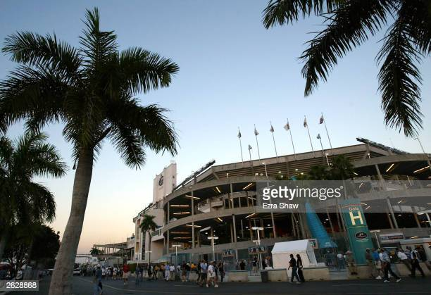 Fans flock to Pro Player Stadium to see the New York Yankees play the Florida Marlins during game four of the Major League Baseball World Series...