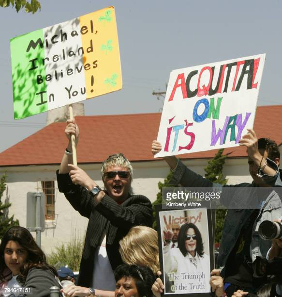 Fans from all over the world came to cheer for pop singer Michael Jackson at the Santa Barbara County courthouse where deliberation on Jackson's...