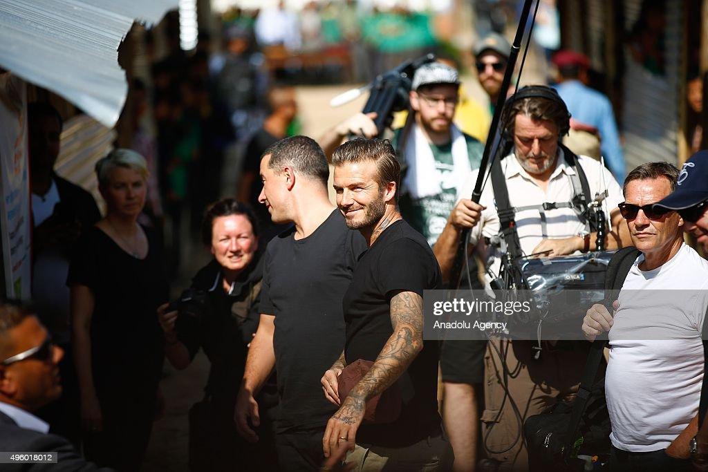 David Beckham in Nepal for UNICEF : News Photo