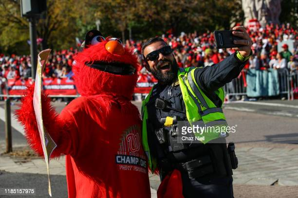 Fans gather as the Washington Nationals hold a parade to celebrate their World Series victory over the Houston Astros on November 02 2019 in...