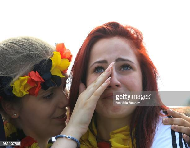 Fans gather for a public viewing event to watch the 2018 FIFA World Cup Russia Group F match between Korea Republic and Germany at the historical...