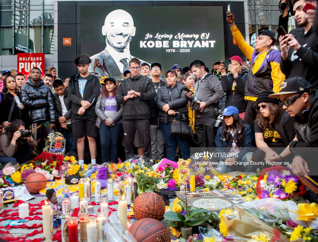 Thousands Mourn Lakers Legend Kobe Bryant : News Photo