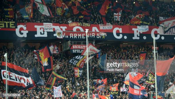 Fans Genoa during the Serie A match between Genoa CFC and SPAL at Stadio Luigi Ferraris on December 9 2018 in Genoa Italy