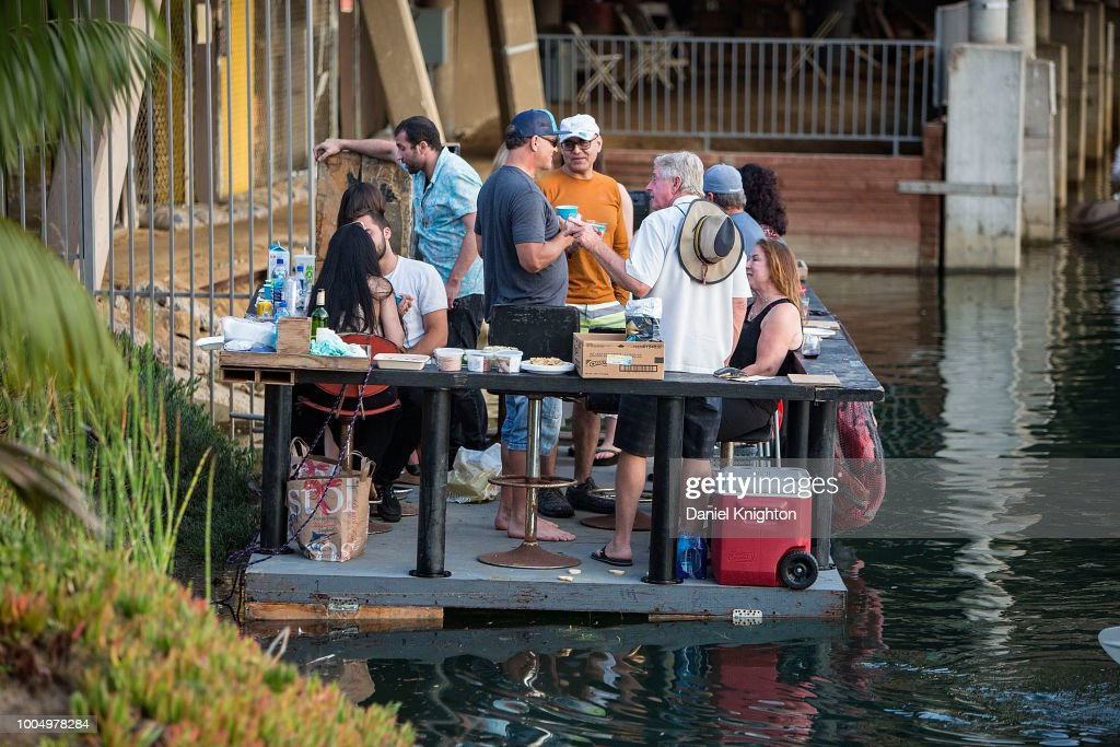 Fans Get Creative With A Home Made Party Barge To Dock And Listen To