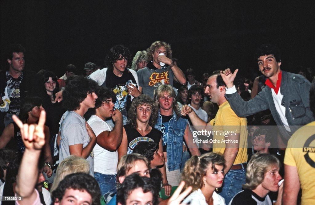 AC/DC Fans At The Forum : News Photo
