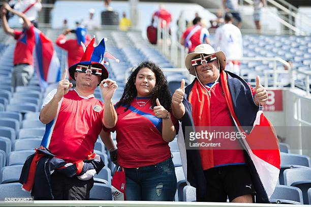 Fans get ready for the group A match between Costa Rica and Paraguay at Camping World Stadium as part of Copa America Centenario US 2016 on June 04...