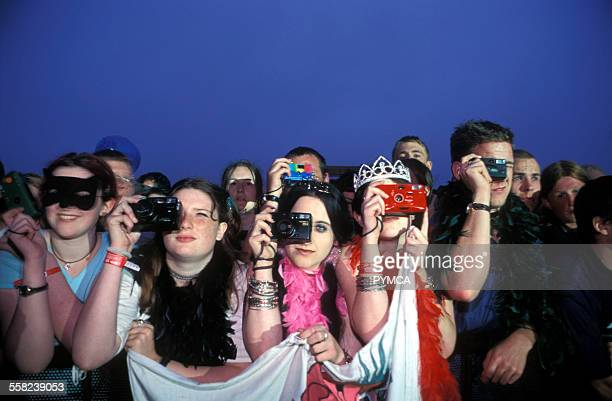 Fans getting ready to take some pics T in the park Scotland 1999