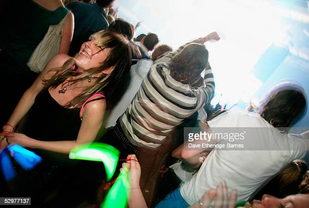 Fans go beserk as The Chemical Brothers play the Brighton Centre on May 24 2005 in Brighton EnglandThe Brighton gig is the first date of the tour in...
