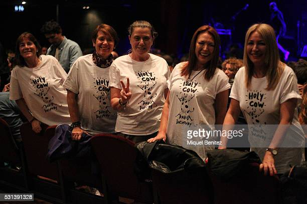 Fans group attend the concert of David Duchovny at Sala Barts on May 14 2016 in Barcelona Spain