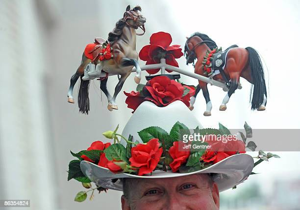 A fan's hat near the red carpet at the 135th Kentucky Derby at Churchill Downs on May 2 2009 in Louisville Kentucky