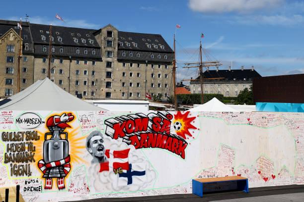 DNK: Fans Leave Messages For Stricken Footballer Christian Eriksen