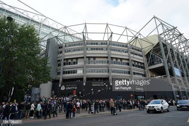 Fans head to St James' Park football stadium before their game against Tottenham Hotspur and the clubs first game after Newcastle United's takeover...